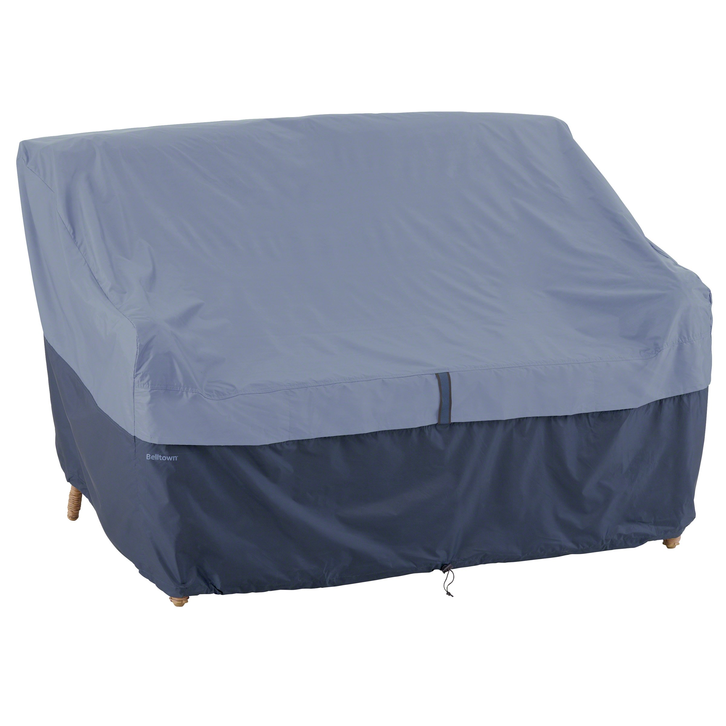 Classic Accessories 55-286-015501-00 Belltown Outdoor Patio Sofa/Loveseat Cover, Blue, Small by Classic Accessories (Image #1)