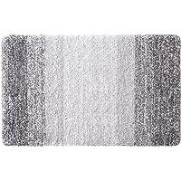 Furnily Tapis de Bain Anti-Glissant Antibacterienne Microfibre Carpette Souple pour Salle de Bain