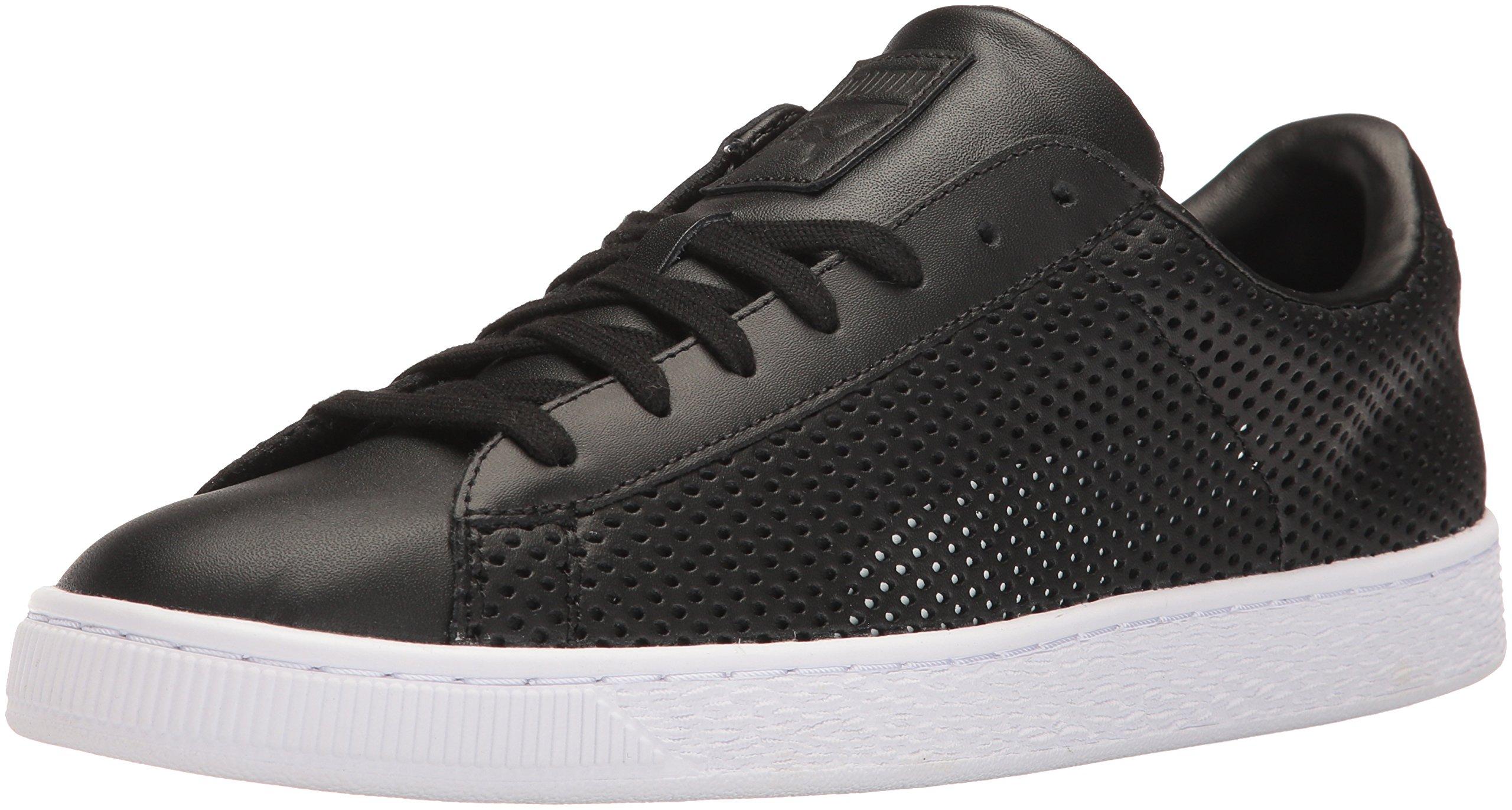 PUMA Men's Basket Classic Summer Shade Fashion Sneaker, Black, 13 M US