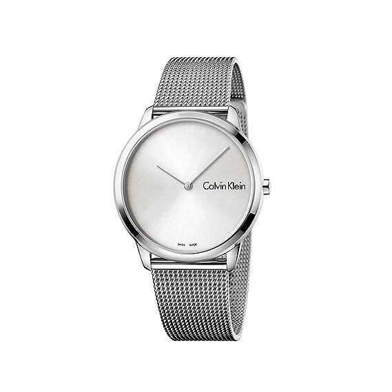 Calvin Klein Reloj Analogico para Hombre de Cuarzo con Correa en Acero Inoxidable K3M211Y6: Amazon.es: Relojes