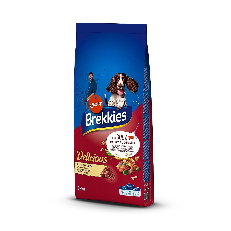 Brekkies Pienso para Perros Delicious con Buey - 12000 gr: Amazon.es: Productos para mascotas