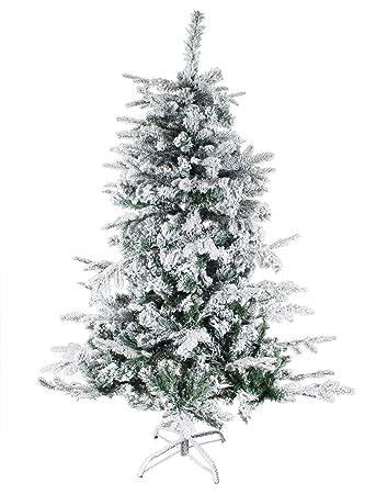 Kunstliche weihnachtsbaum mit schnee