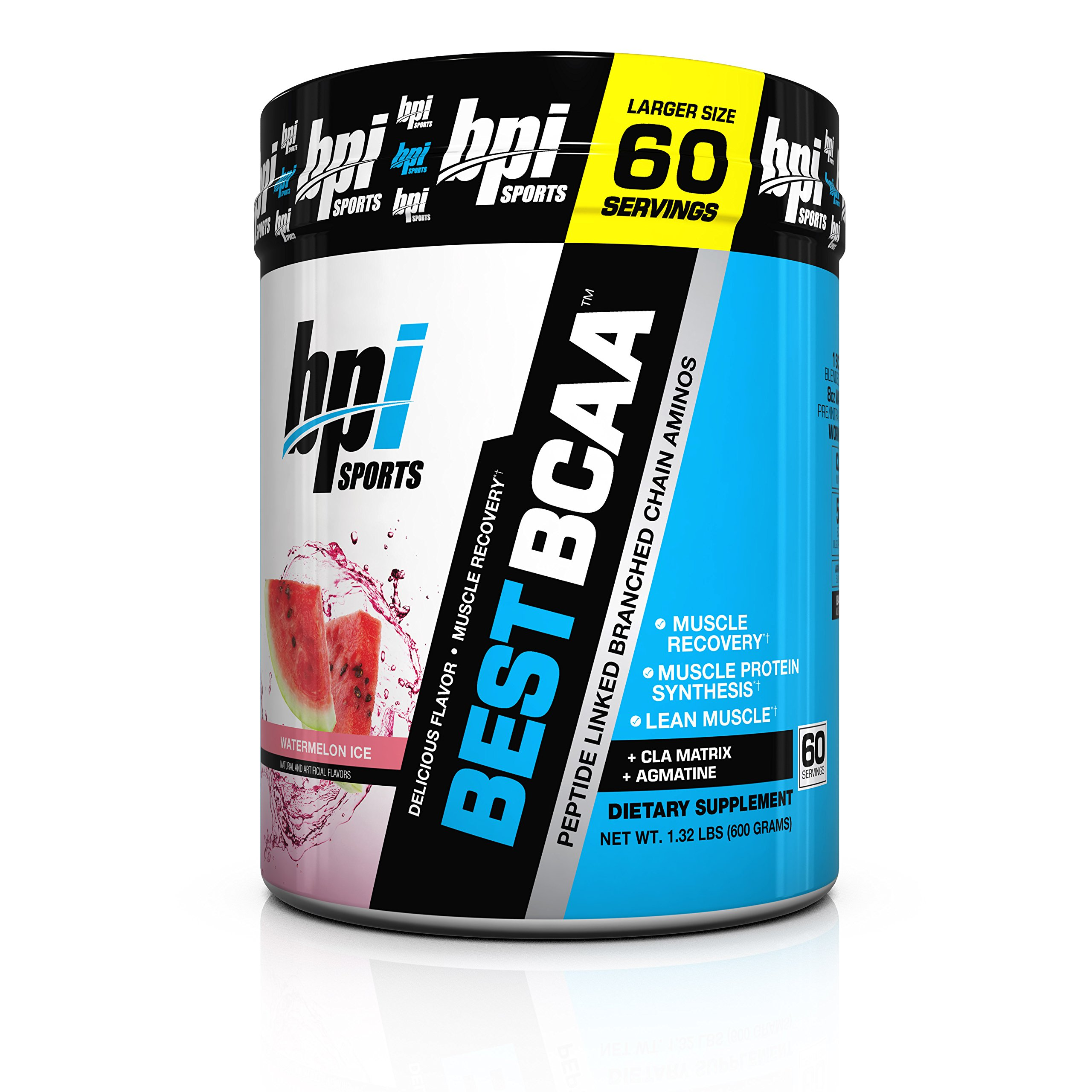 BPI Sports Best BCAA Peptide Linked Branched Chain Aminos, Watermelon Ice, 1.32 Pound