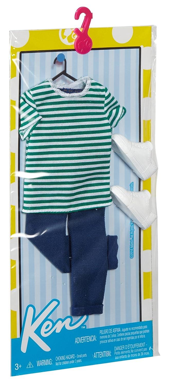 3f43400f60af Amazon.com: Barbie Ken Fashion Casual Stripe Shirt & Jeans: Toys & Games
