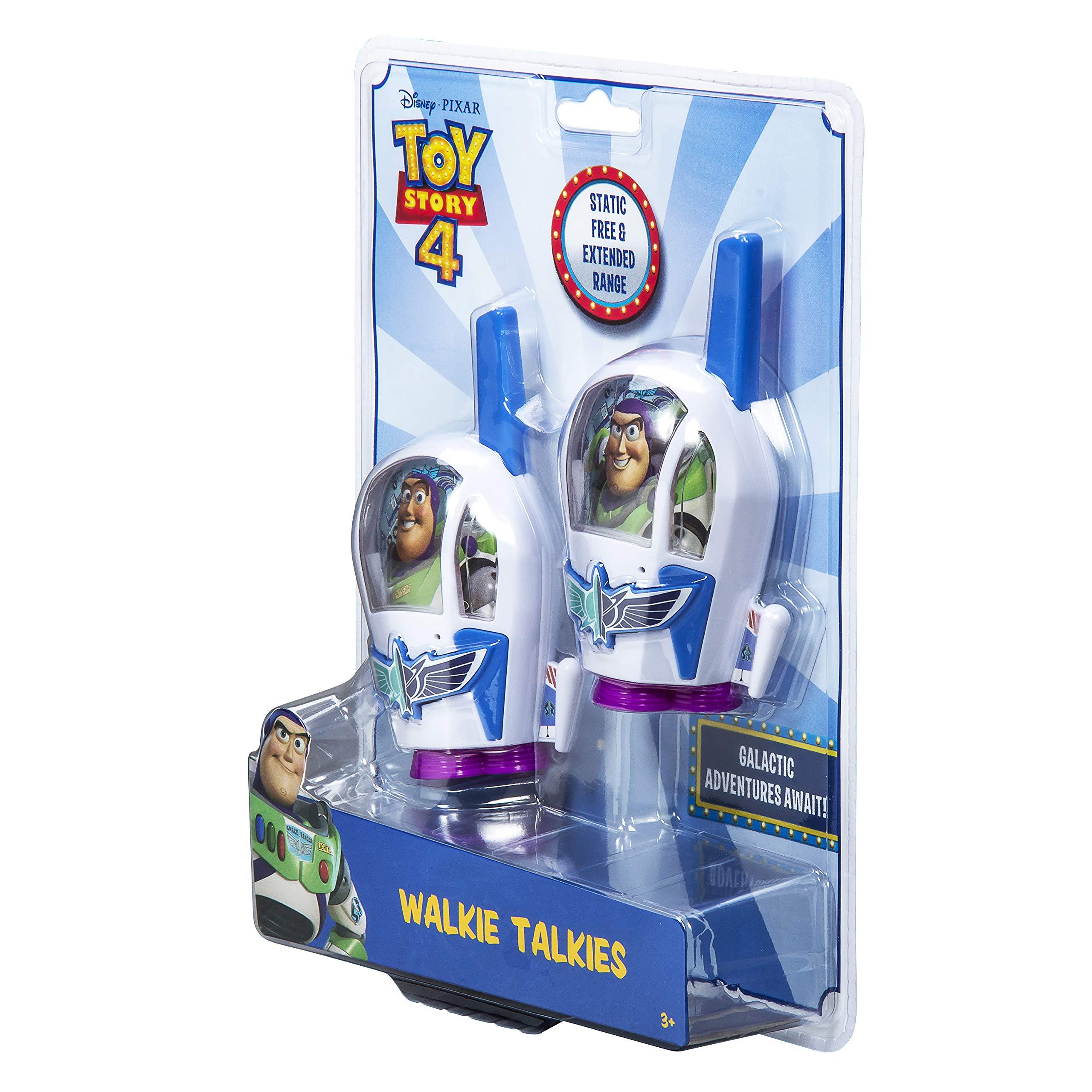 Toy Story 4 Buzz Lightyear Kids Walkie Talkies for Kids Static Free Extended Range Kid Friendly Easy to Use 2 Way Radio Toy Handheld Walkie Talkies Team Work Play Indoors or Outdoors by eKids (Image #7)