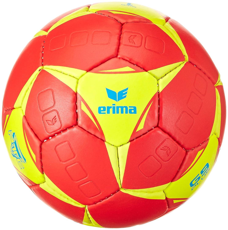 Erima–Palla da pallamano G9Plus, Handball G9 Plus, Rot/Lime, 2 720513