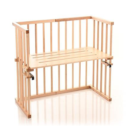 Babybay midi cama auxiliar marrón Beige barnizado
