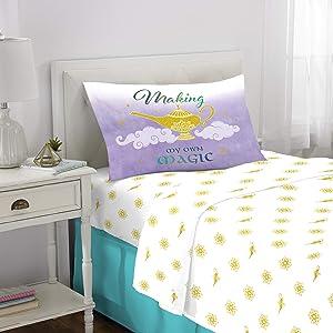 Franco Kids Bedding Super Soft Sheet Set, 3 Piece Twin Size, Disney Aladdin