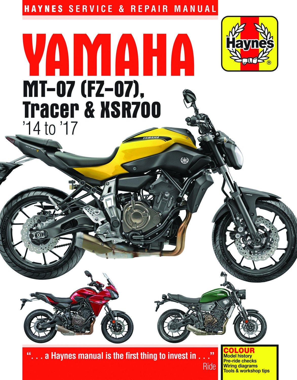Amazon.com: 2014-2017 Yamaha MT07 FZ07 MT FZ 07 Tracer XSR700 XSR 700  HAYNES REPAIR MANUAL 6385: Automotive