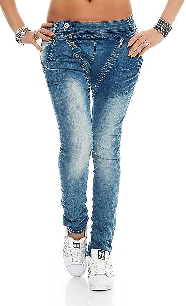 SKUTARI – Mujer Jean pantalones Jean Baggy gran tamaño