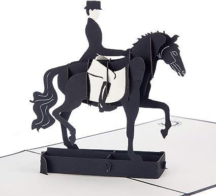 regali di compleanno per cavalli biglietti fatti a mano biglietti di compleanno per donne regalo per gli amanti dei cavalli regali per equitazione Cardology Biglietto pop-up per dressage