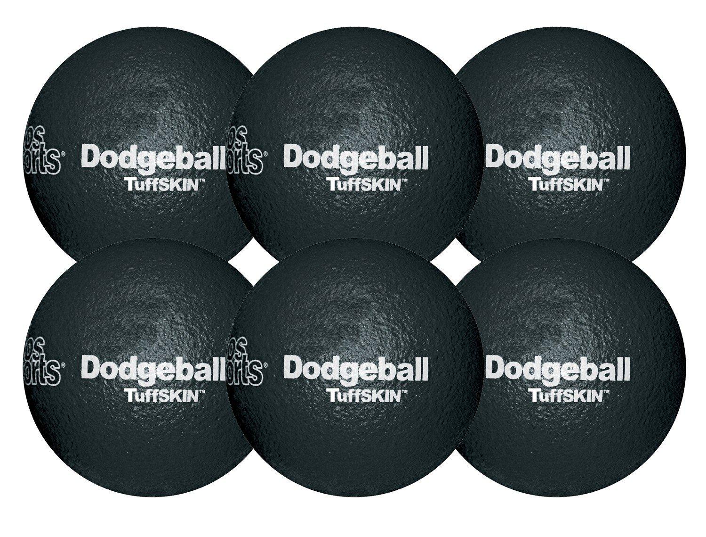 RuffSKIN 6'' Black Dodgeball-Set of 6
