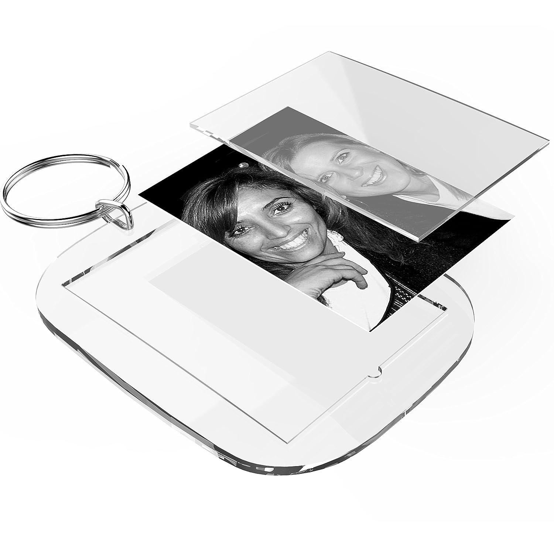 Druckb/ögen zum gestalten mit Foto 50 Stk. Namen Acryl Schl/üsselanh/änger Sets zum selber machen 40 x 30 mm inkl Bild