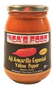 Inca's Food Aji Amarillo Paste Especial - 15 Oz - Deseeded Yellow Pepper Paste from Peru