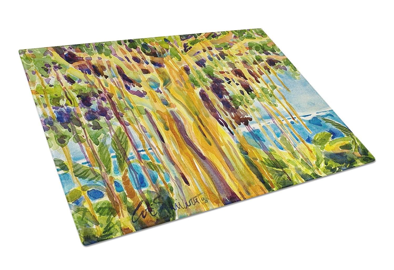 Multicolor Carolines Treasures Tree Banyan Tree Glass Cutting Board Large