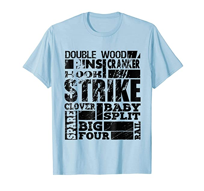 3a3b7b84c6 Amazon.com: BOWLING TEE Bowling T-Shirts Bowling Wear Tee: Clothing