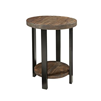 Amazing Alaterre Azmba1520 Sonoma Rustic Natural Round End Table Brown Dailytribune Chair Design For Home Dailytribuneorg