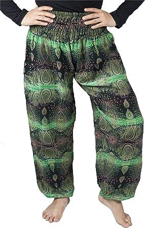 Plus Size Genie Pants Hippy Boho Aladin Rayon Baggy Pants Soft Comfortable BIG