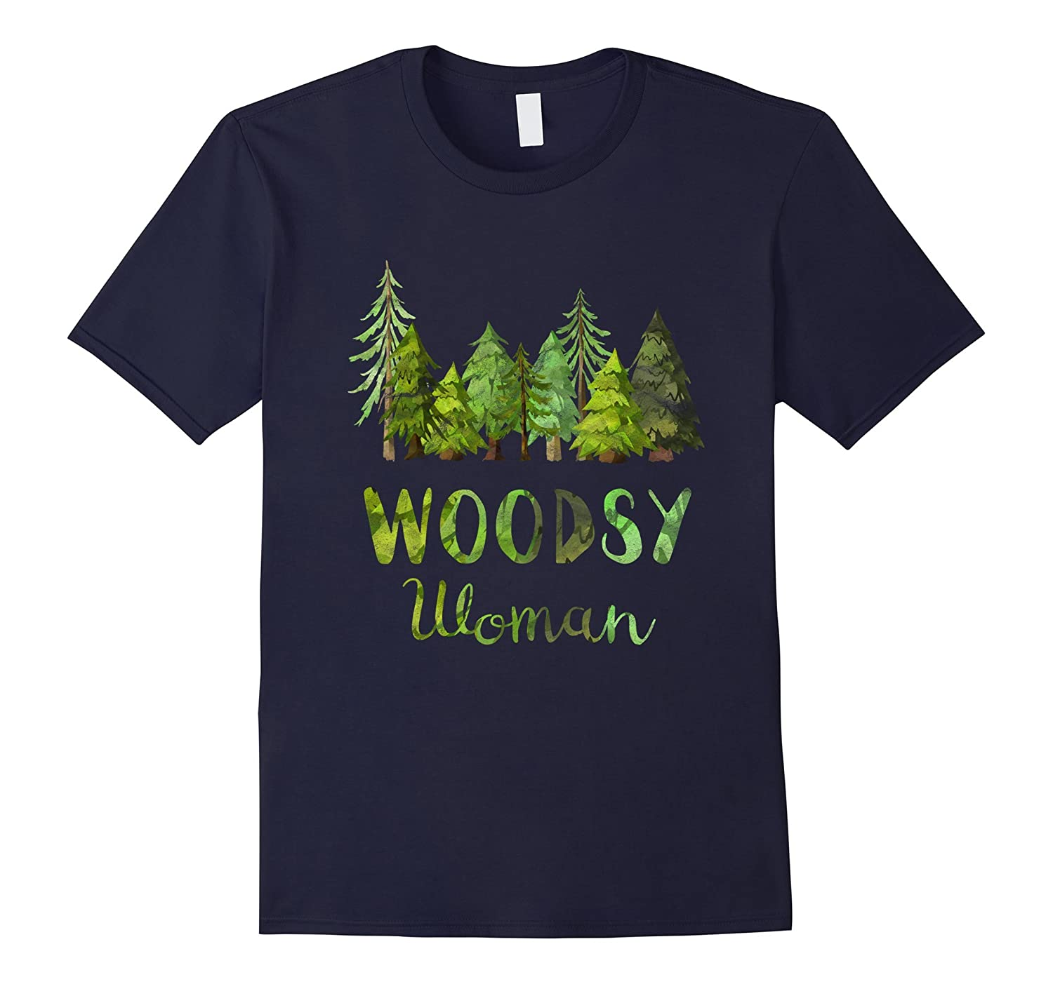 Woodsy Woman T-Shirt - Outdoor Camping Nature Lovers Tee-TH