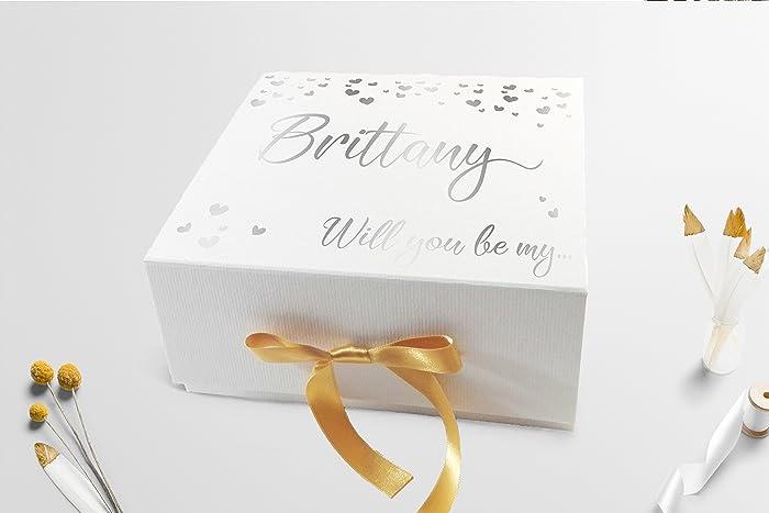 Amazon Com Bridesmaid Gift Box Bridesmaid Proposal Box