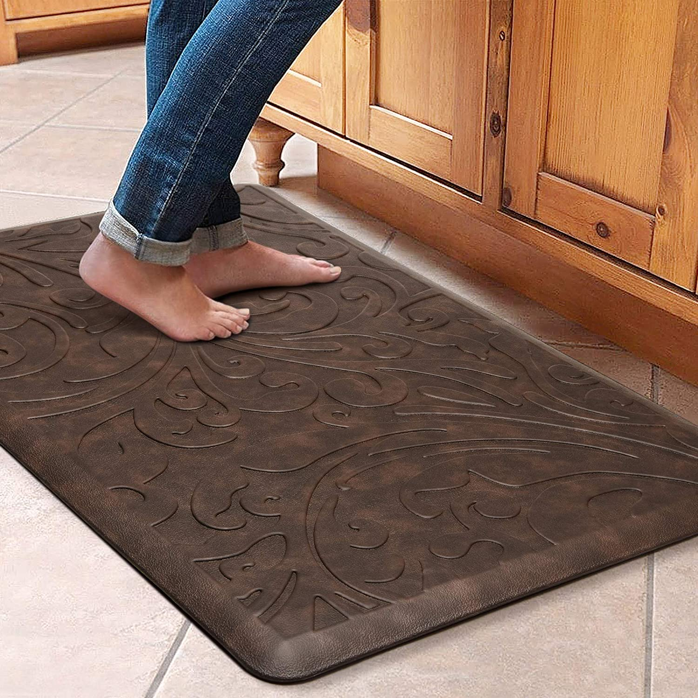 KMAT Kitchen Mat Cushioned Anti Fatigue Floor Mat Waterproof Non Slip  Standing Mat Ergonomic Comfort Floor Mat Rug for  Home,Office,Sink,Laundry,Desk ...