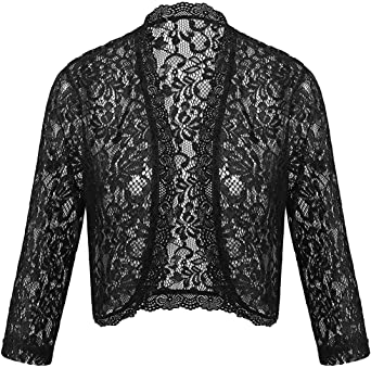 Trendy Womens Womens Lace Cropped Bolero Shrug Cardigan Top