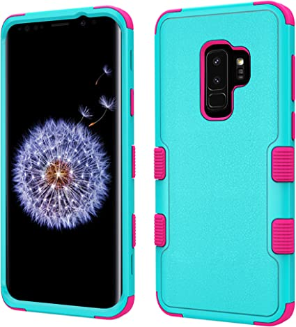 Amazon.com: Para Samsung Galaxy S9 Plus, Tuff híbrido ...