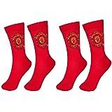 Manchester United 2 PAIR Pack of Mens Socks
