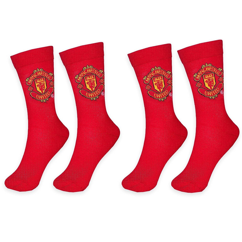 Geschenk Herren Str/ümpfe Manchester United FC Offizielles Merchandise 2 Paar