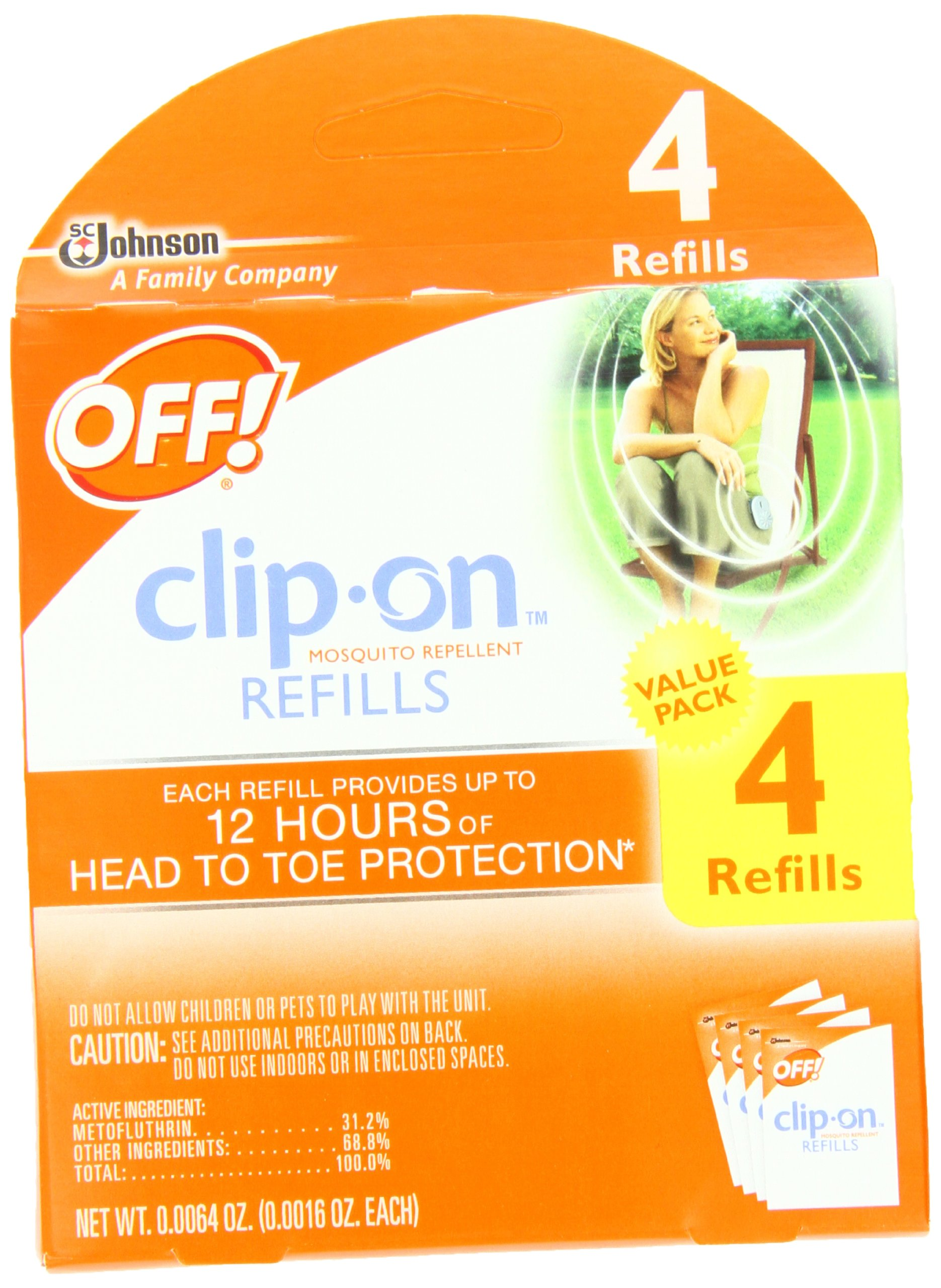 OFF! Clip-on Refills, 4 Count