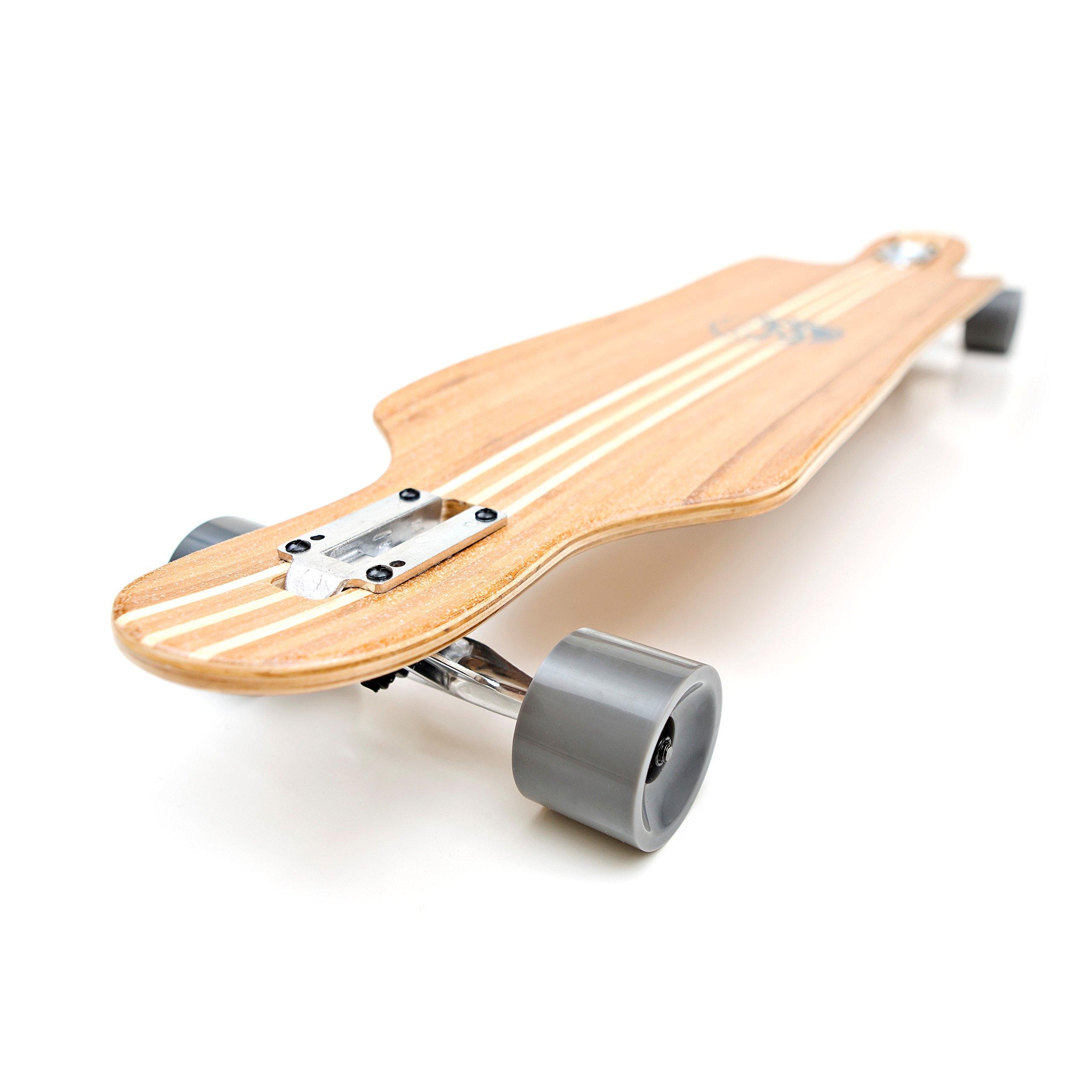 White Wave Bamboo Longboard Skateboard (Mayhem) by Whitewave (Image #1)