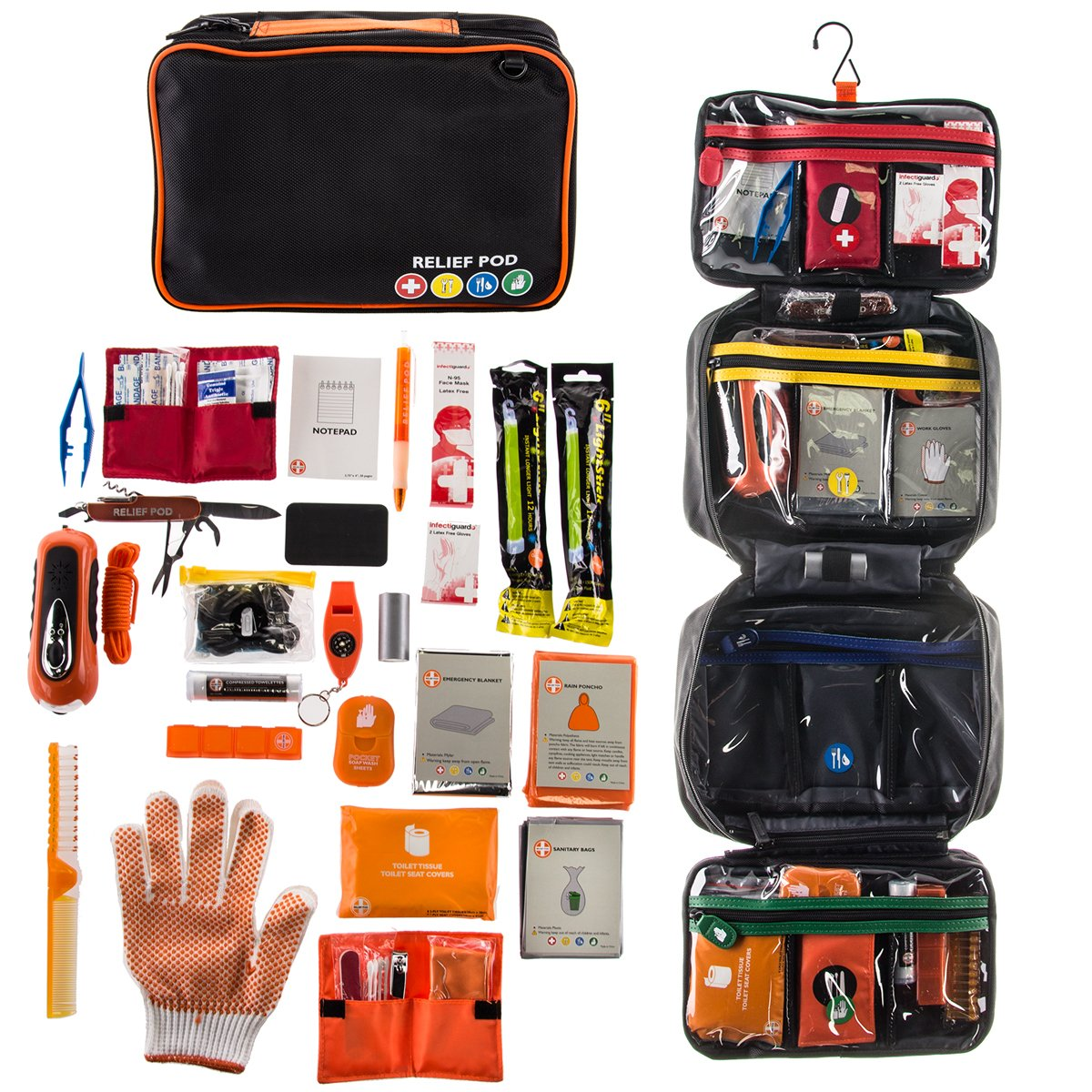 Empower Elegance Emergency Kit Relief Pod Survival First Aid for Disaster Preparedness Home Car