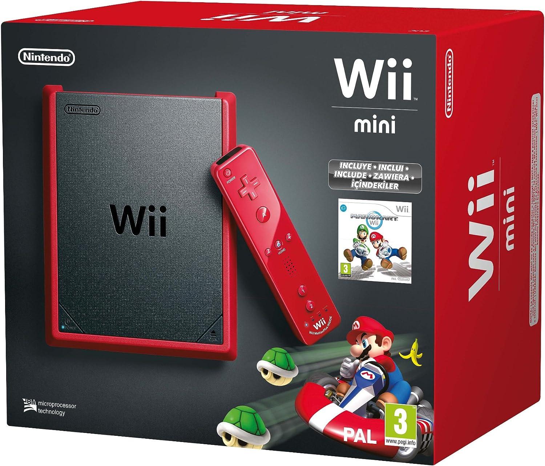 Nintendo Wii - Consola Mini, Color Rojo + Mario Kart - Edición Limitada: Amazon.es: Videojuegos