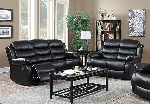 Amazon.com: GTU - Juego de sofá reclinable para salón (piel ...