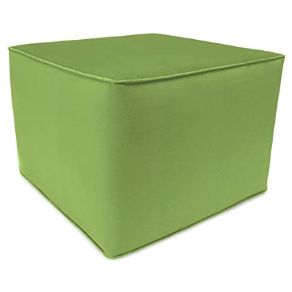 Incroyable Outdoor Square Pouf Ottoman In Sunbrella Canvas (Green)