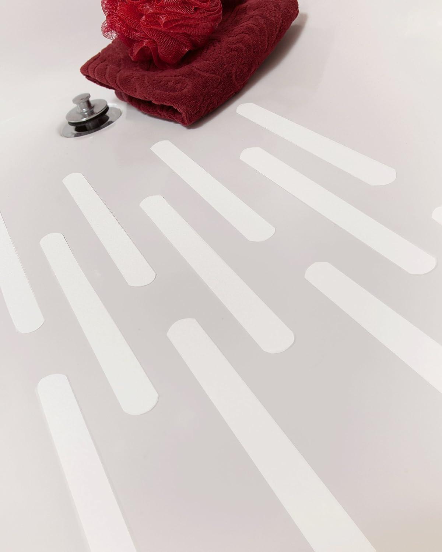 7 1//2-Inch Set of 12 Tushies /& Toes Anti-Slip Shower Treads White