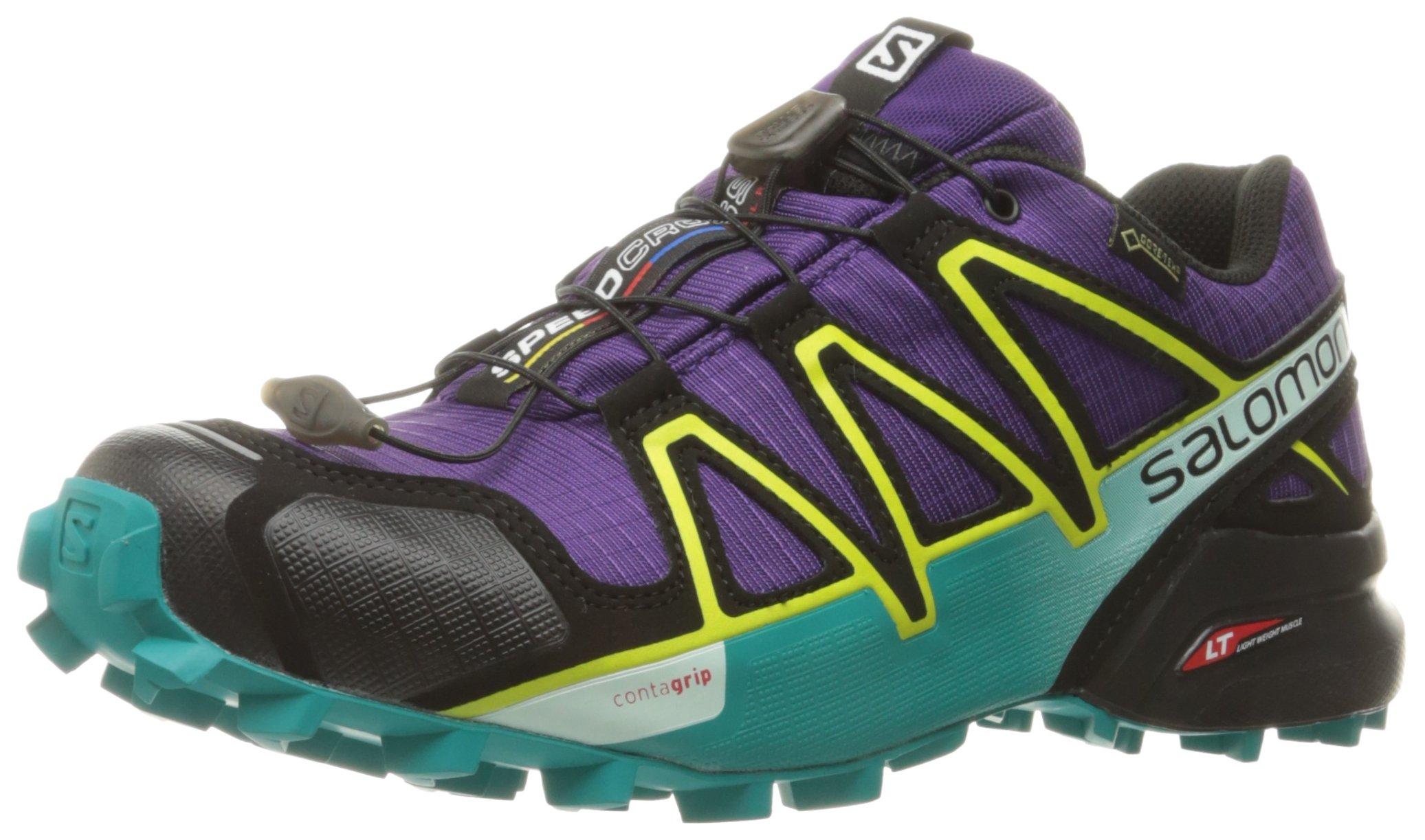 Salomon Men's XA Pro 3D Trail Running Shoes, Acai/Deep Peacock Blue/Sulphur Spring, 10 M US