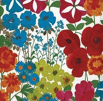 caspari inc. - bigliettini vuoti con disegno di giardino fiorito ... - Giardino Fiorito Disegno