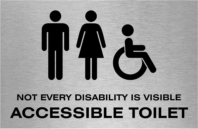 Slimline Aluminium Oblong Accessible Toilet Sign