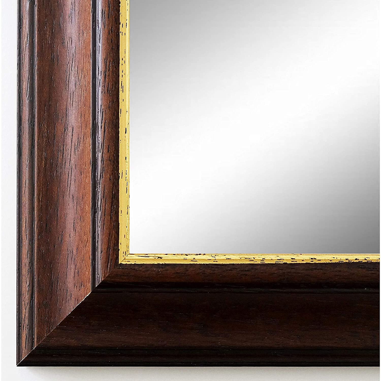 Online Galerie Bingold Wandspiegel Wandspiegel Wandspiegel Spiegel Badspiegel - Genua 4,2 - Braun Gold - 60 x 80 - Außenmaß inkl. Massivholz-Rahmen - viele Größen verfügbar - Modern, Barock, Antik, Vintage 5f88ed