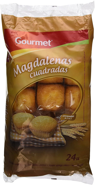Gourmet - Magdalena Cuadrada, 24 unidades, 700 g: Amazon.es: Alimentación y bebidas