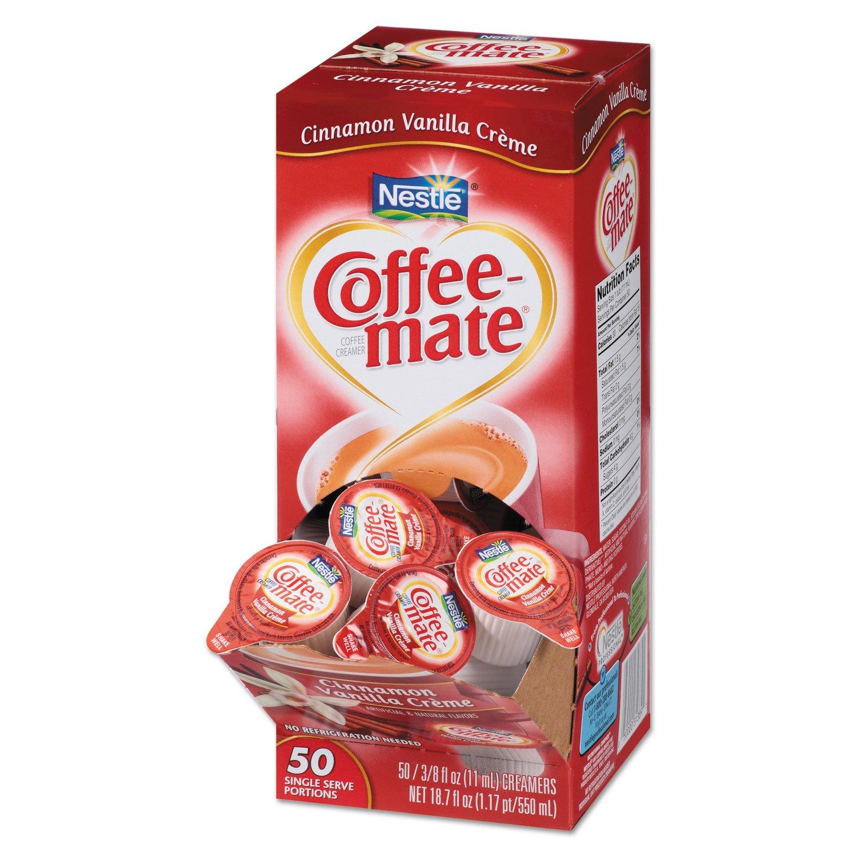 Coffee-mate 42498CT Liquid Coffee Creamer Cinnamon Vanilla 0.375 oz Mini Cups 50/Bx 4 Box/Carton by MOT2