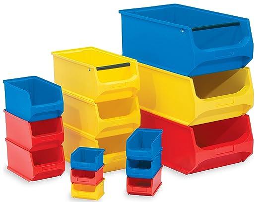 Sichtlagerkasten Stapelbox Lagerbox Lager Stapel Box 500x300x200mm mit Griff