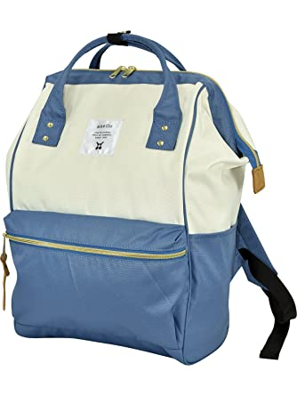 f5972102bf6b Amazon.com   anello  Rucksack Caps backpack AT-B0193A White × Steel Blue   Clothing