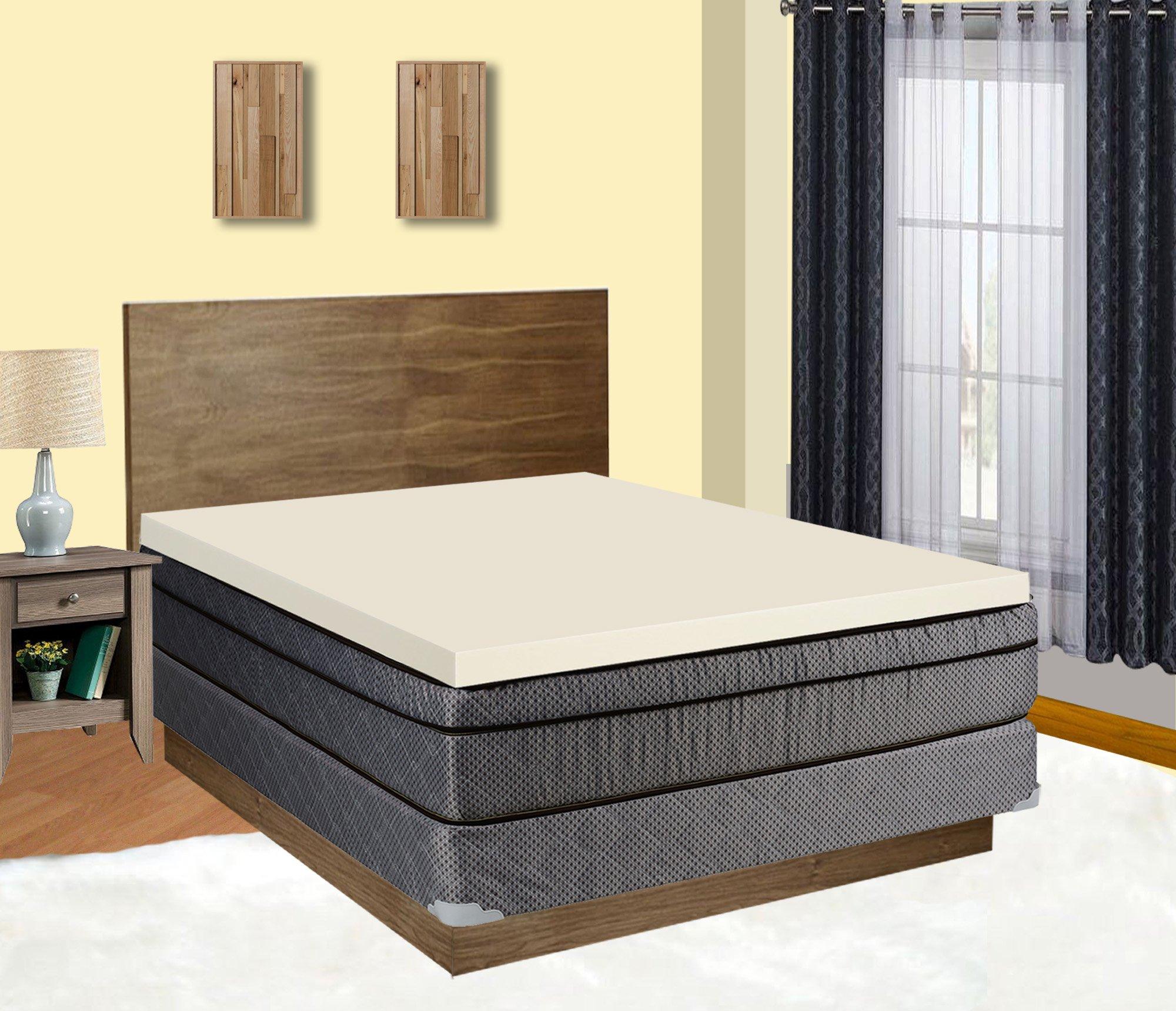 Mattress Solution, 2'' Density Foam Mattress  Topper, Twin Size, Adds Comfort To Mattress