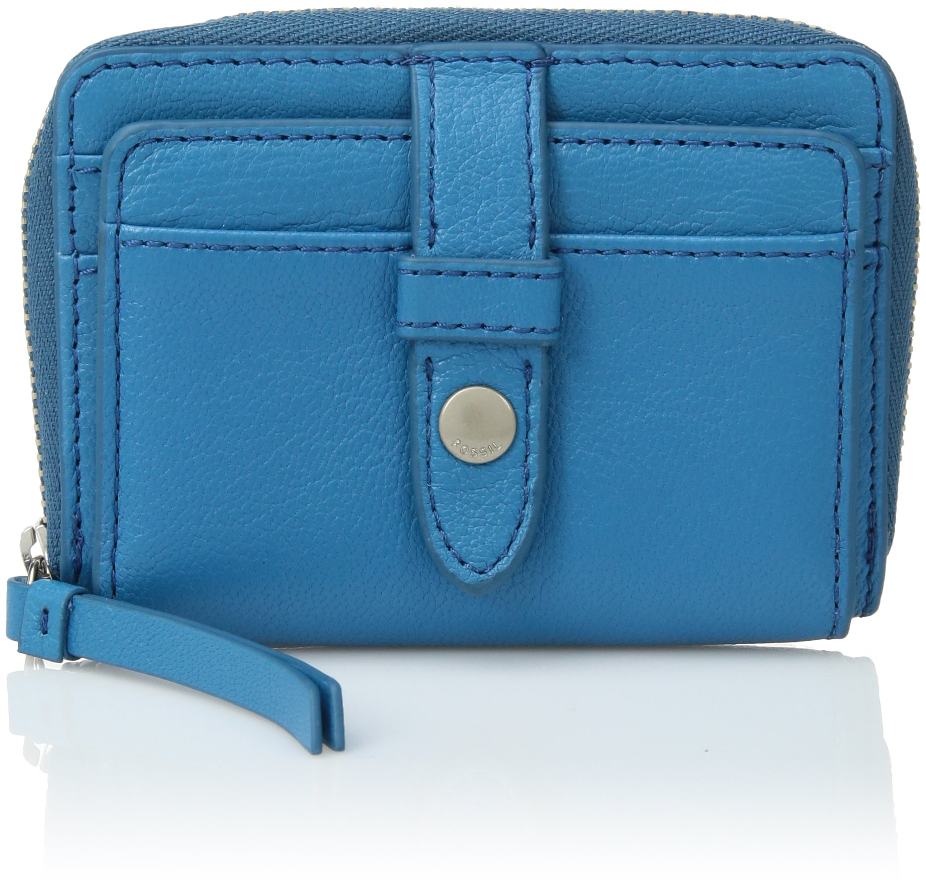 Fossil Fiona Zip Coin Purse, Cerulean