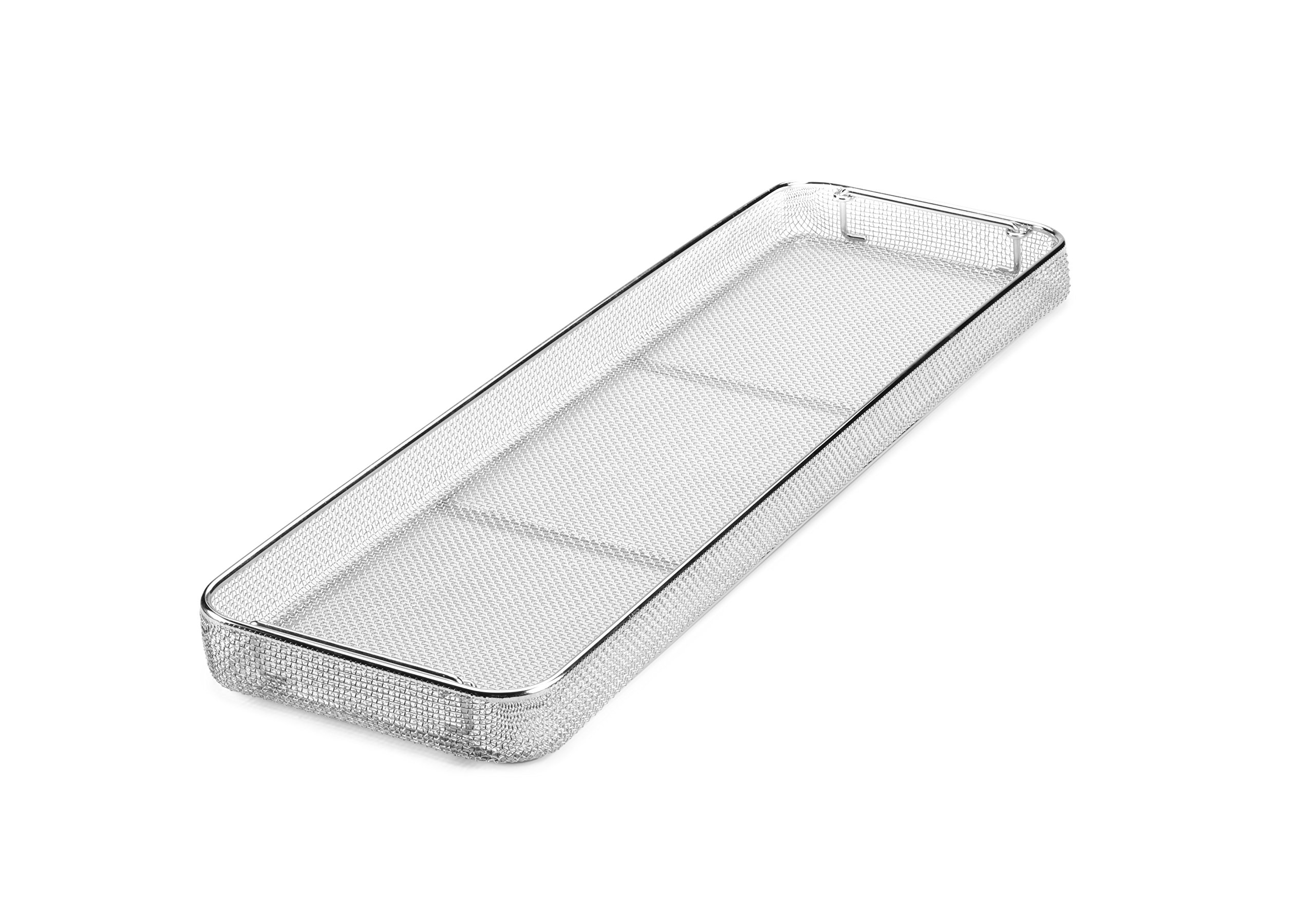 Key Surgical MT-9521 Micro Mesh Tray with Drop Handles 700mm x 210mm x 50mm
