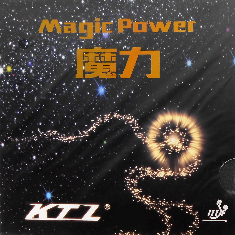 KTL Magic Power Medium Pips Out Table Tennisラバーシート 0.8mm ブラック B012EVD9OQ
