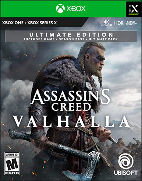 Amazon Com Assassin S Creed Valhalla Xbox Series X S Pre Load Xbox One Ultimate Edition Digital Code Video Games