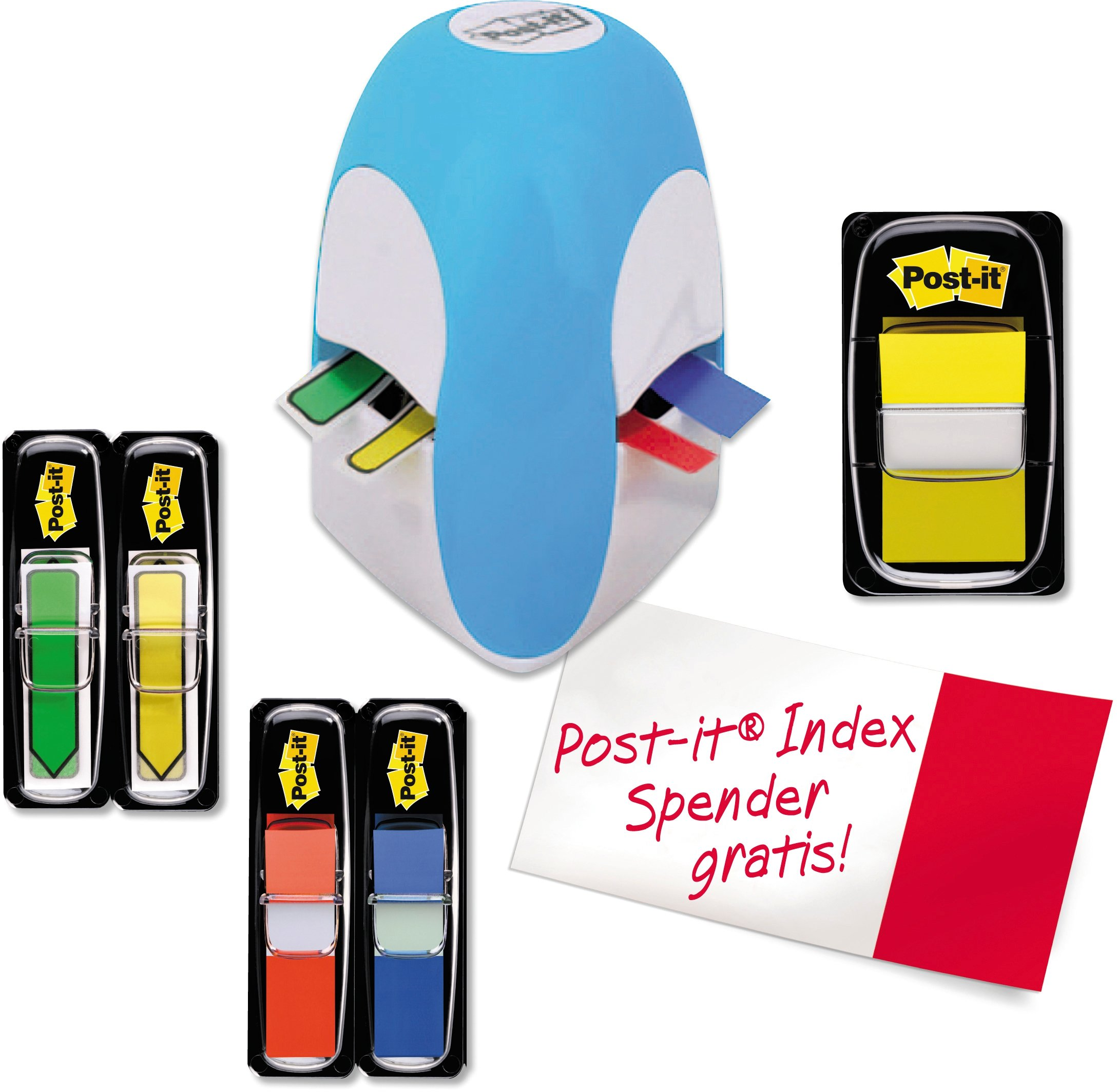 Post-It Index Tridex Blue Dispenser with 5 Packs of Flags by Post-it (Image #4)